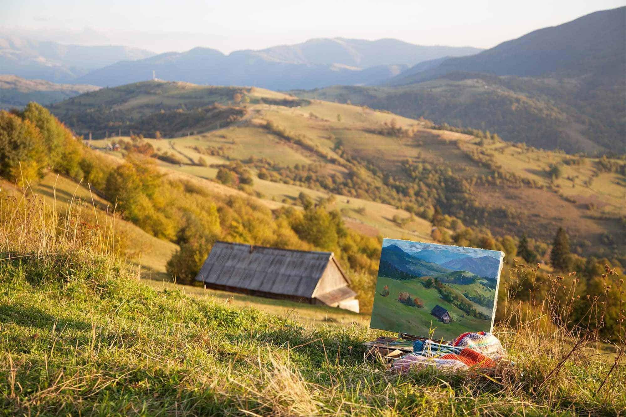 Bilder malen lassen nach Vorlage landschaft künstler auftragsmalerei