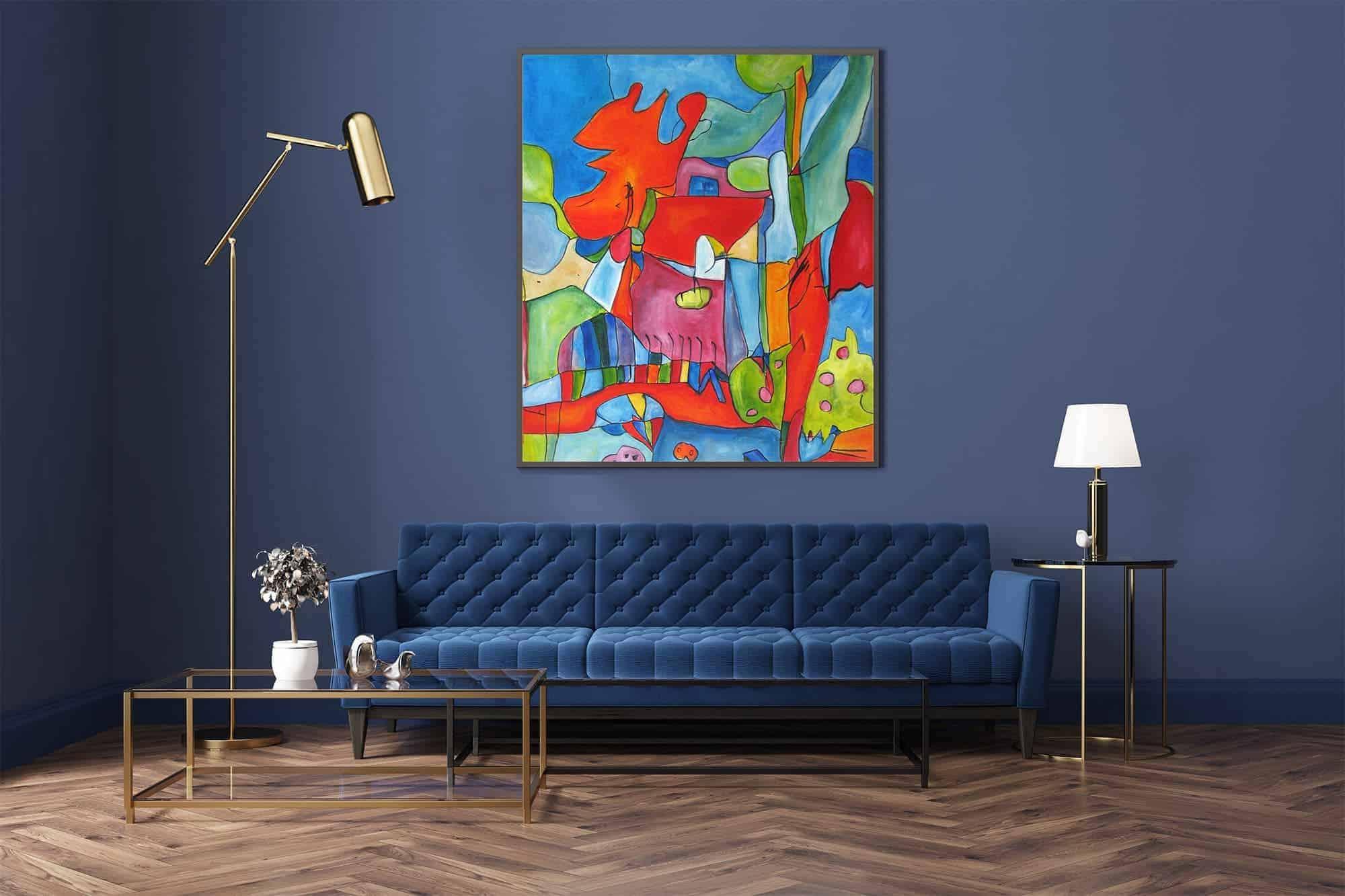 Bilder richtig aufhängen: So hängen Sie Gemälde an die Wand!