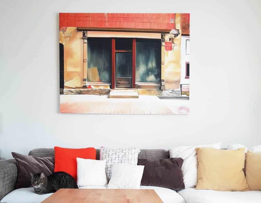 GroBartig Bilder über Dem Sofa Mit Ca. 30 Cm Abstand