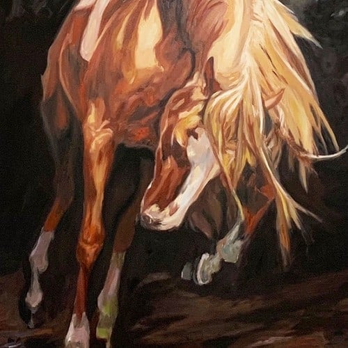 bild malen lassen pferd