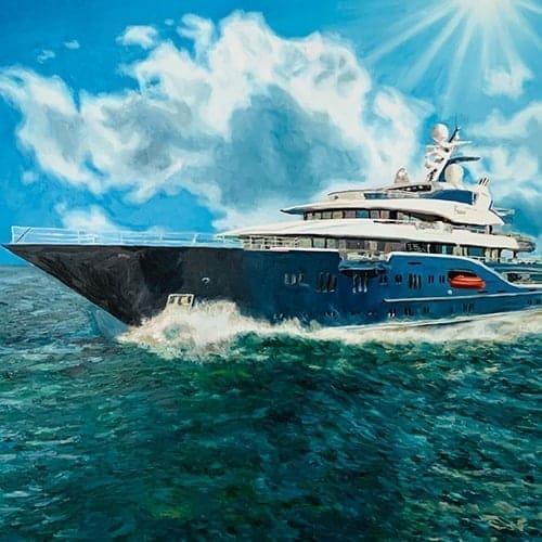 bild malen lassen yacht