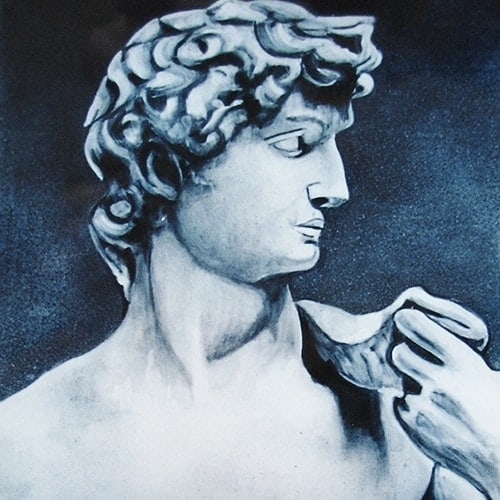 portraetmalerei michelangelo david