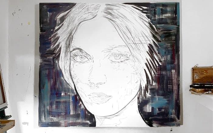 Portraitmalerei auftragsmalerei frau zeichnung