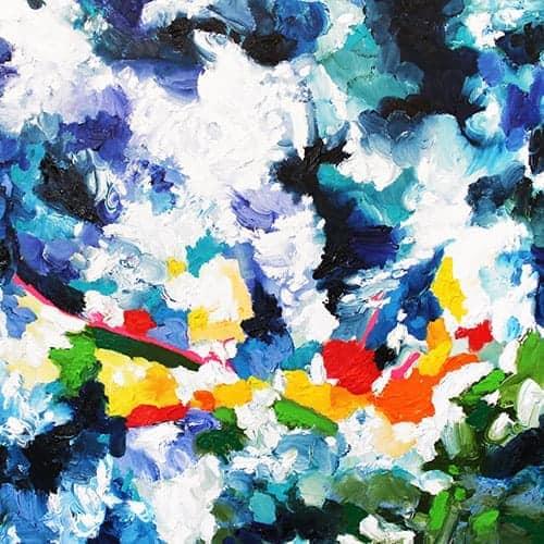 acrylbilder kaufen modern farbig expressiv