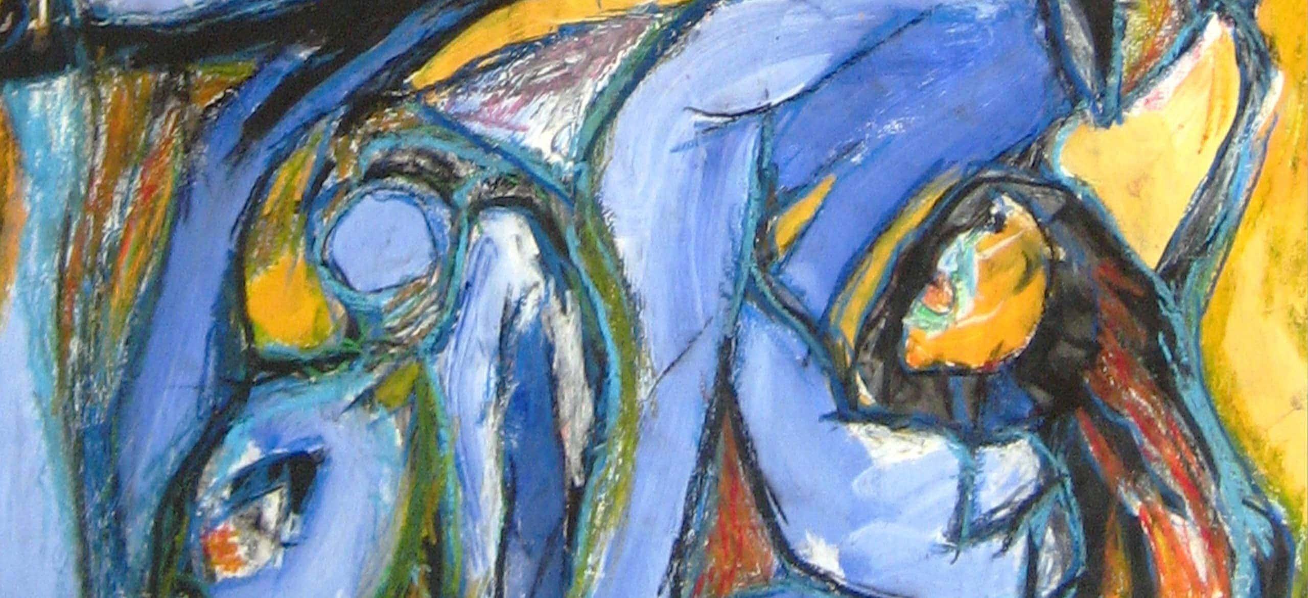 abstrakte malerei vom kuenstler