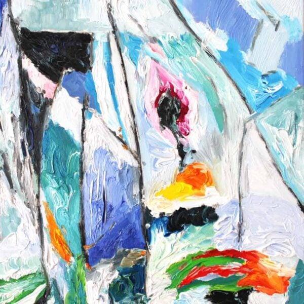 Abstraktes Acrylbild leinwand