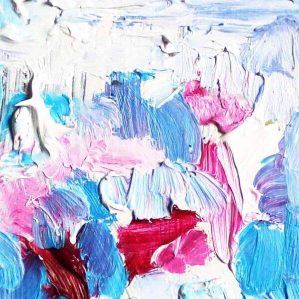 Acrylbild leuchtendes Rosa