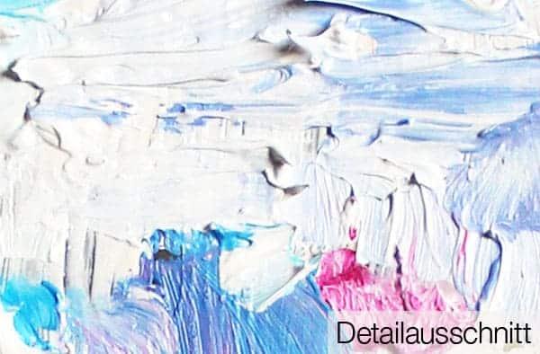 Acrylbild leuchtendes Rosa detail leinwand