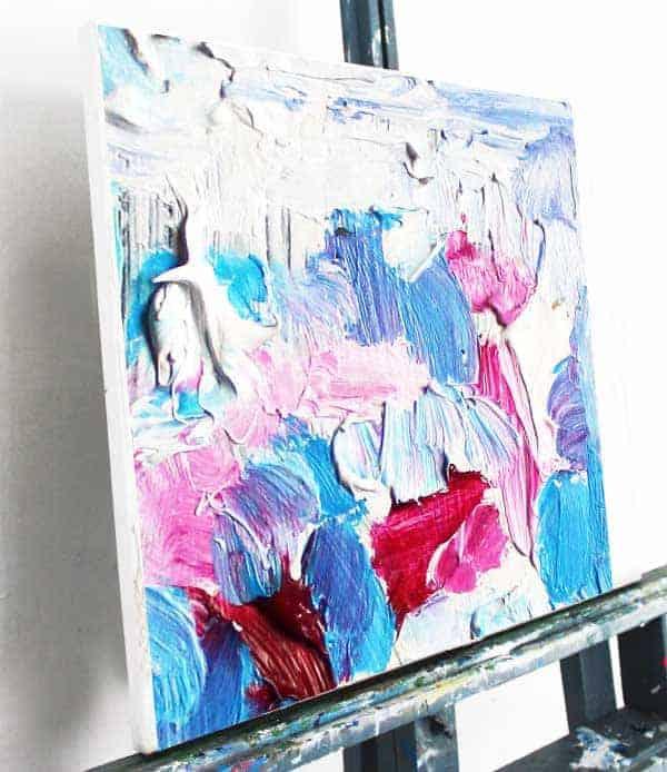 Acrylbild leuchtendes Rosa leinwand