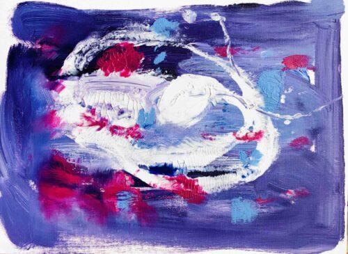 Abstraktes Acrylbild Lila