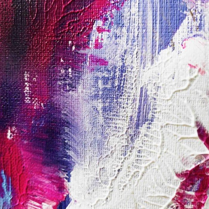 abstraktes acrylbild lila verlauf