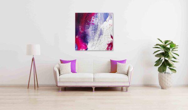 abstraktes acrylbild lila verlauf wandbild