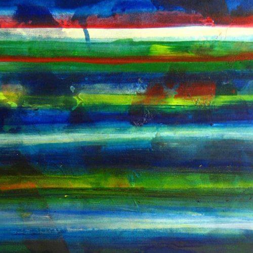 abstraktes acrylbild wasser