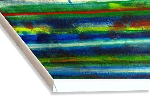 abstraktes acrylbild wasser leinwand