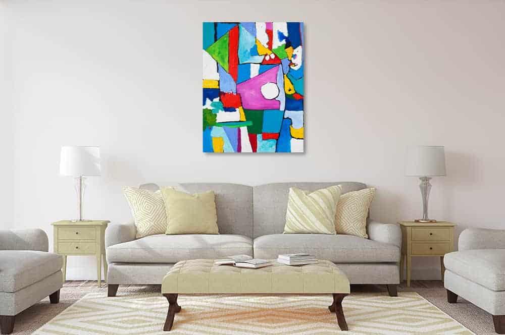 acrylbild farbige spielerei wandbild