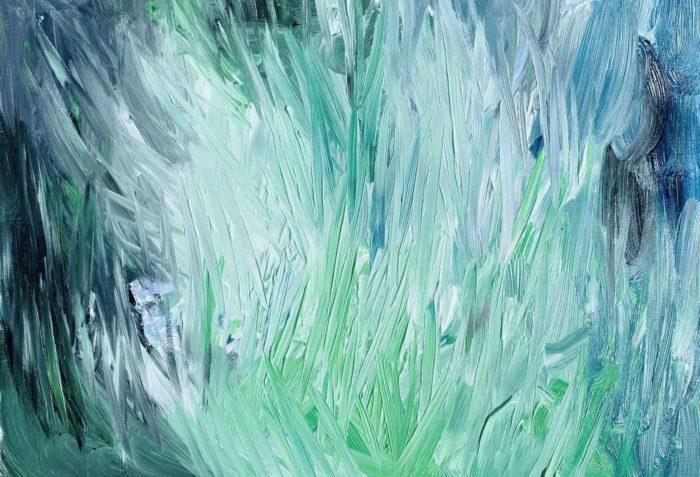 Acrylbild Grüne Struktur