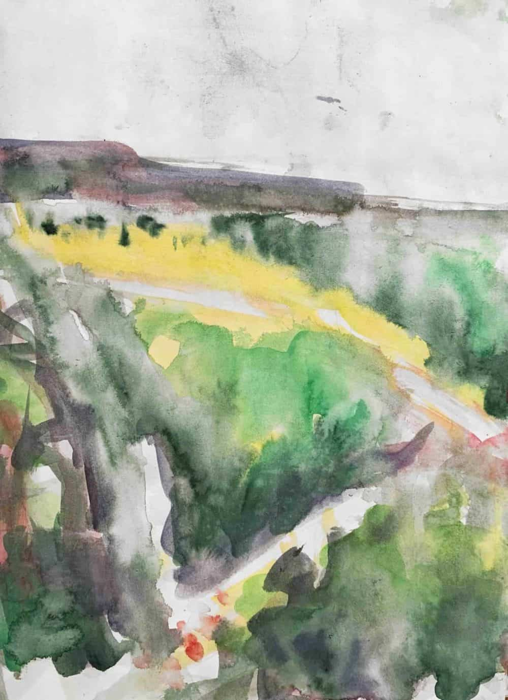 acrylbild landschaft am meer