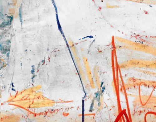 Acrylbild Leichtigkeit mit Orange