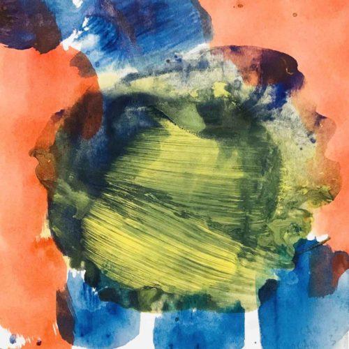 Acrylbild Orange Grün Blau