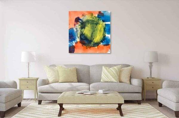 acrylbild orange grün blau wandbild