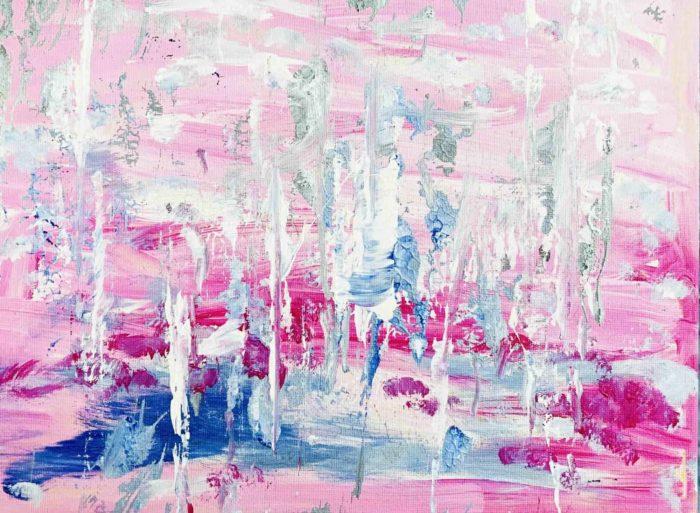 acrylbild rosa traum