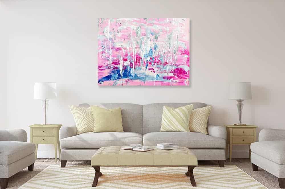 acrylbild rosa traum wandbild