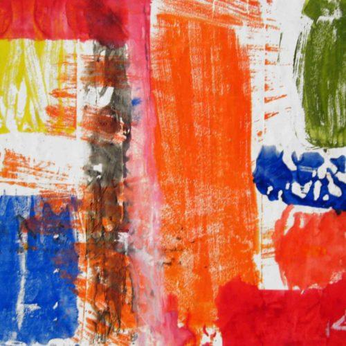 acrylbild rot gelb orange abstrakt