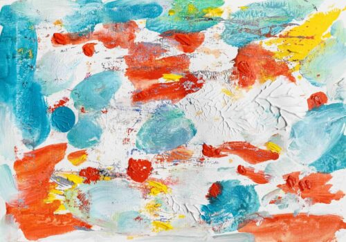 Acrylbild rote Tupfer