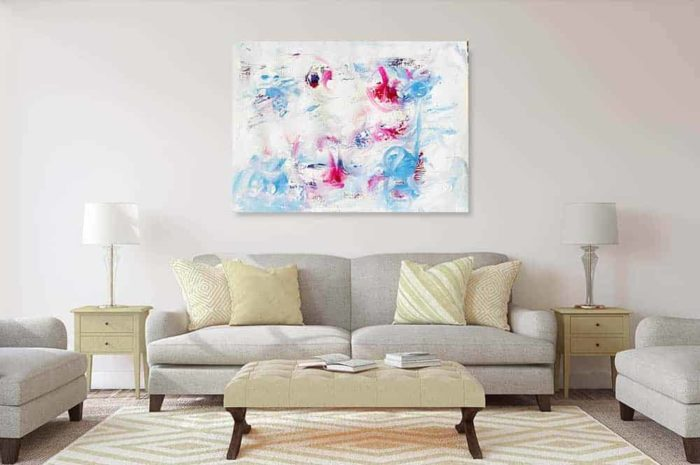 acrylbild traum wandbild weiss rosa