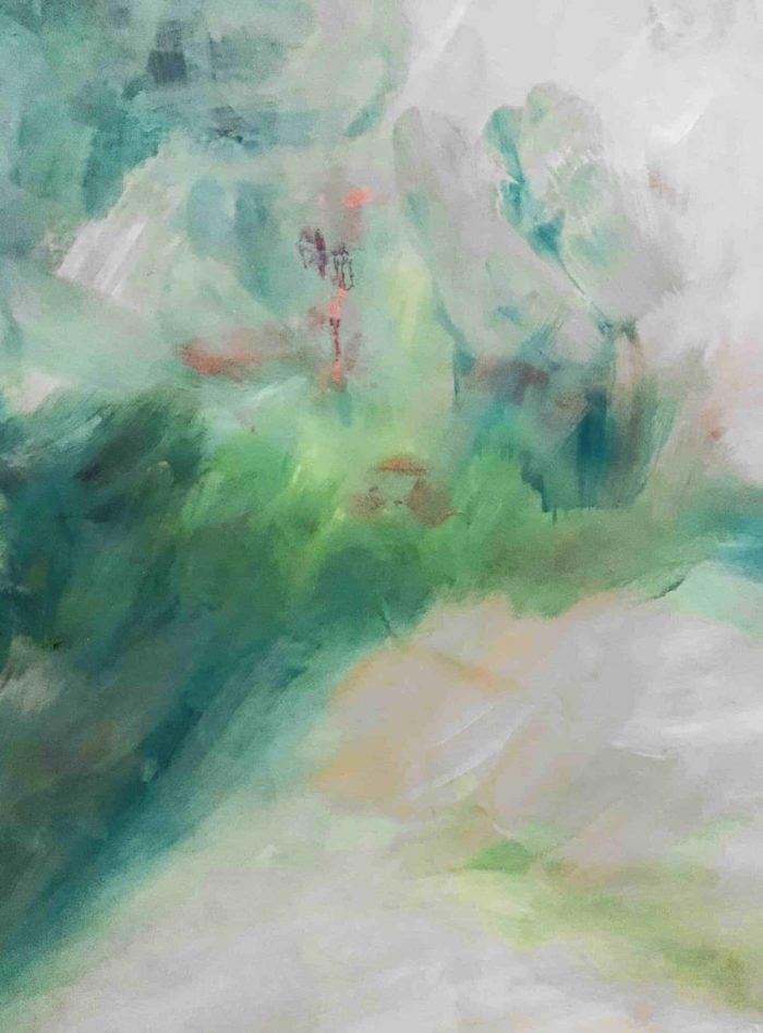 Acrylbild verschwommene Landschaft