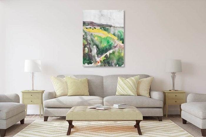 acrylbild wandbild landschaft am meer