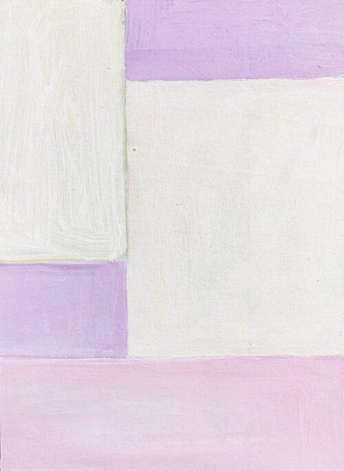 Abstraktes Acrylbild Flächen mit Rosa und Rose