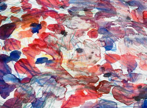 Abstraktes Acrylbild farbige Spielerei