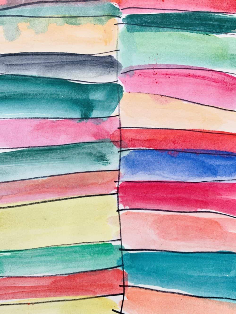 Abstraktes Acrylbild leichte farbige Flächen