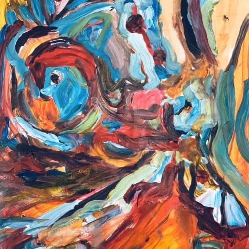 Abstraktes Acrylbild verschimmende Abstraktion