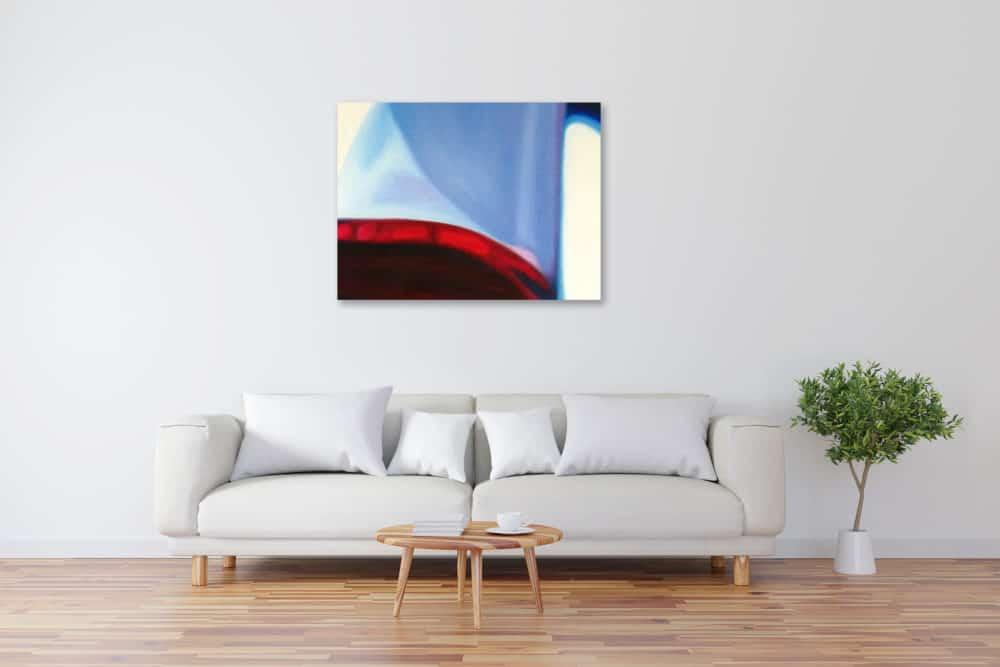 Abstraktes Kunstbild blaue Form künstler