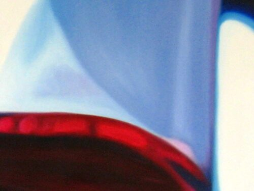 Abstraktes Kunstbild blaue Form