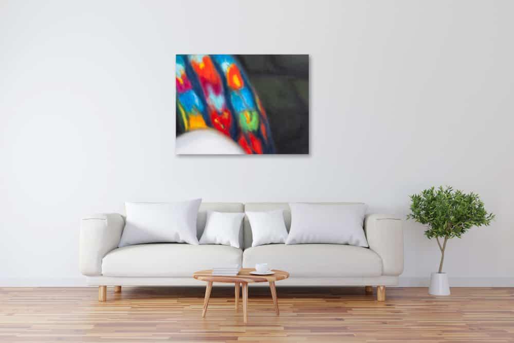 Abstraktes Kunstbild bunte Formen künstler