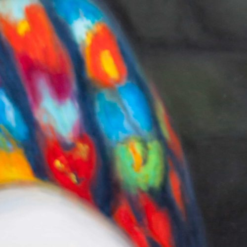 Abstraktes Kunstbild bunte Formen