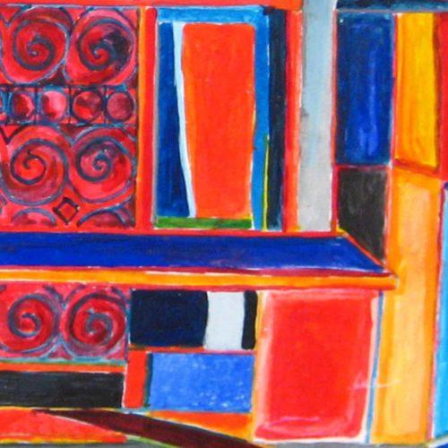 Abstraktes Kunstbild farbige Flächen