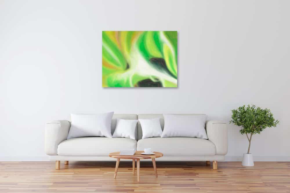Abstraktes Kunstbild leuchtend Floral künstler