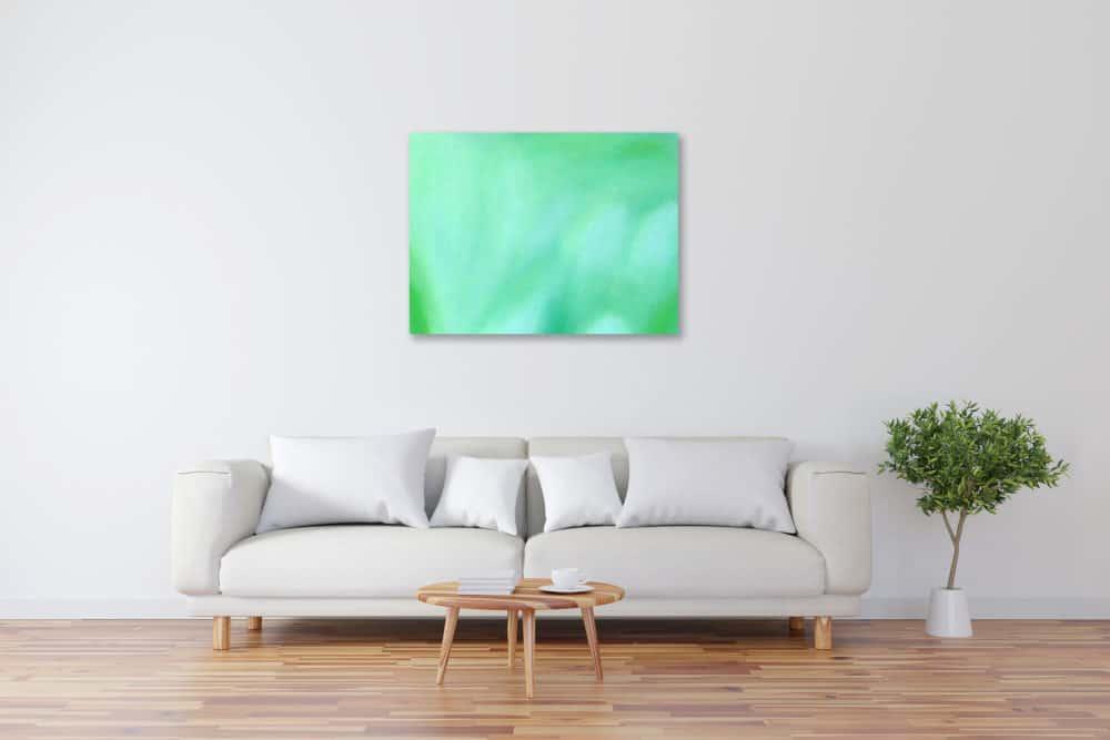Abstraktes Kunstbild leuchtend Grün künstler
