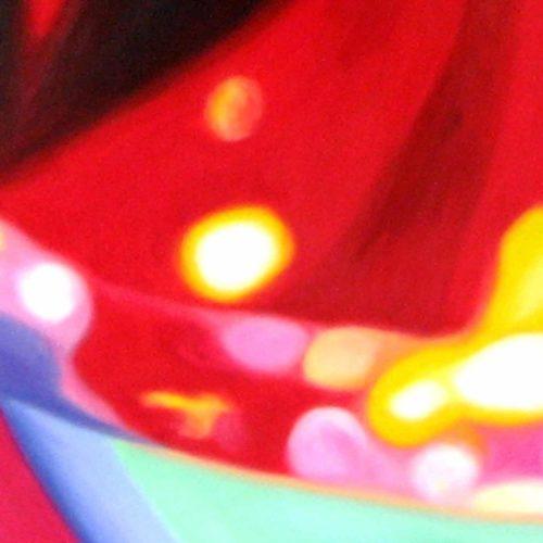 Abstraktes Kunstbild leuchtend Rot