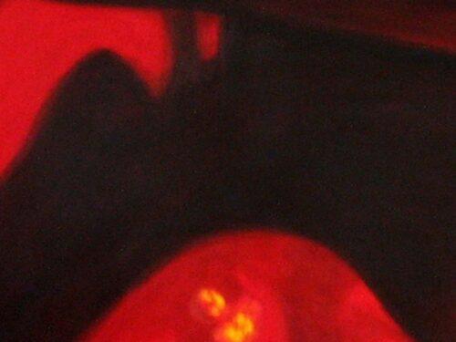 Abstraktes Kunstbild leuchtend Rot Schwarz