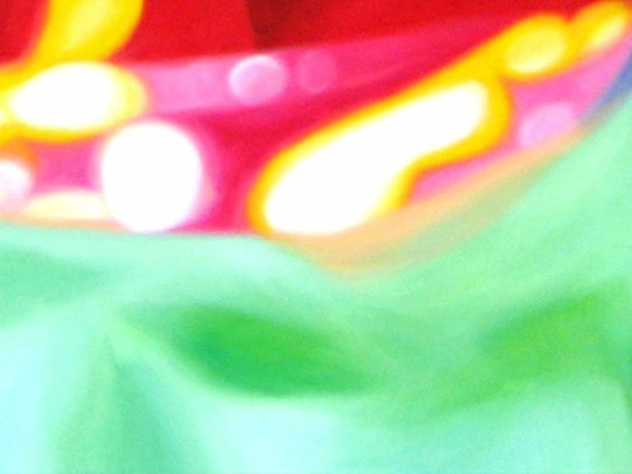 Abstraktes Kunstbild leuchtende Punkte