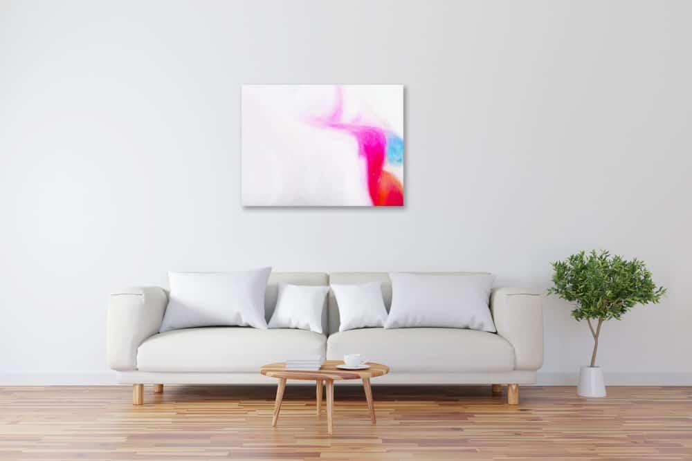 Abstraktes Kunstbild leuchtendes Rosa künstler