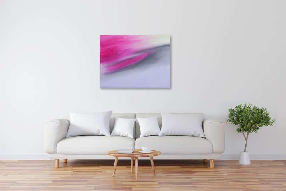 Abstraktes Kunstbild Rosa Grau künstler