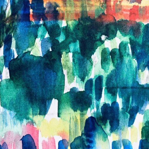 Abstraktes Ölgemälde auf Leinwand expressive Stimmung