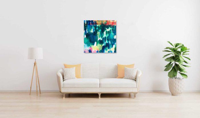Abstraktes Ölgemälde auf Leinwand expressive Stimmung wandbild