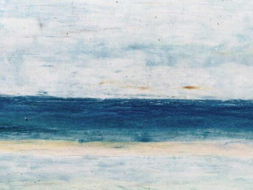 Abstraktes Ölgemälde auf Leinwand ruhiges Meer